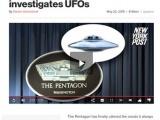 Gibt das Pentagon UFO-Untersuchung zu?